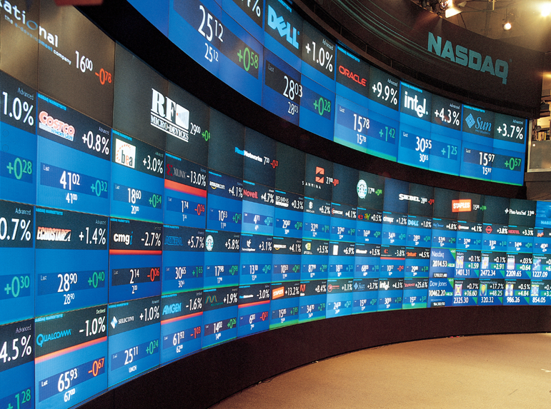 nasdaq stock wall